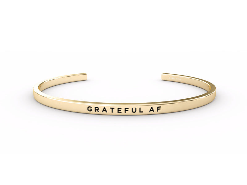 Grateful AF  Gold Delta & Co Bracelet by Delta & Co