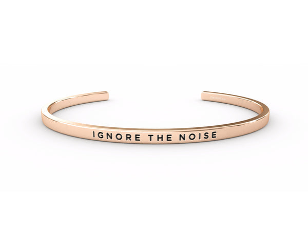 Ignore The Noise  Rose Gold Delta & Co Bracelet by Delta & Co