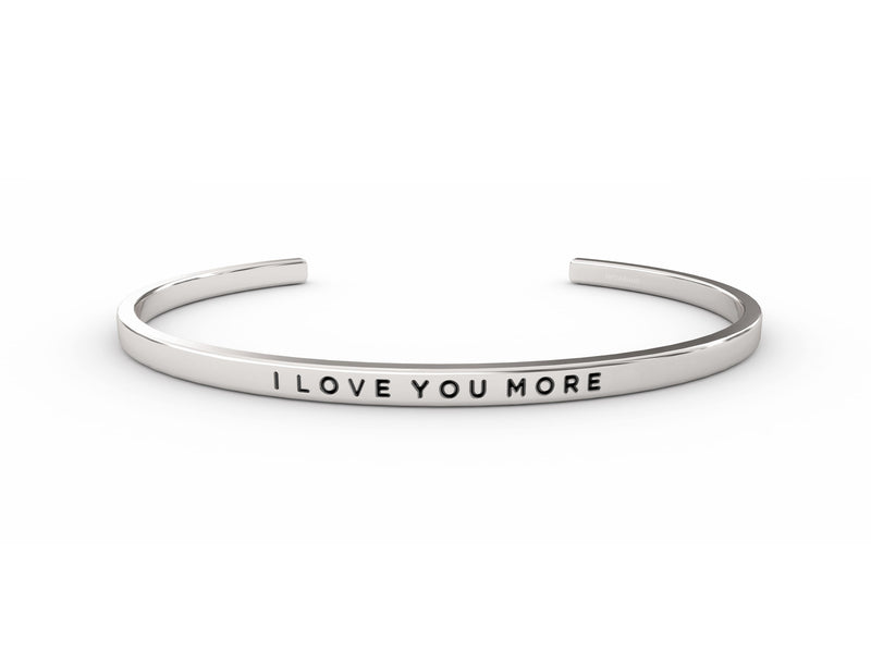 I Love You More  Silver Delta & Co Bracelet by Delta & Co