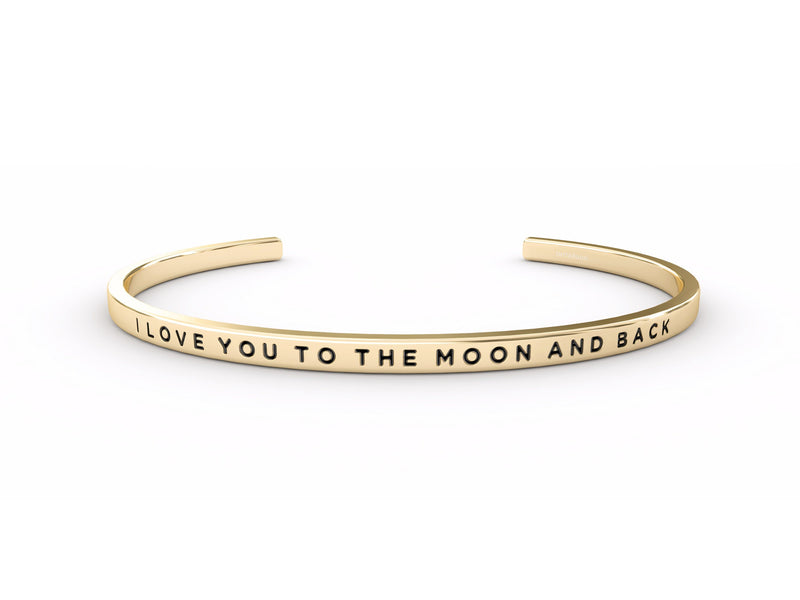 I Love You To The Moon And Back  Gold Delta & Co Bracelet by Delta & Co