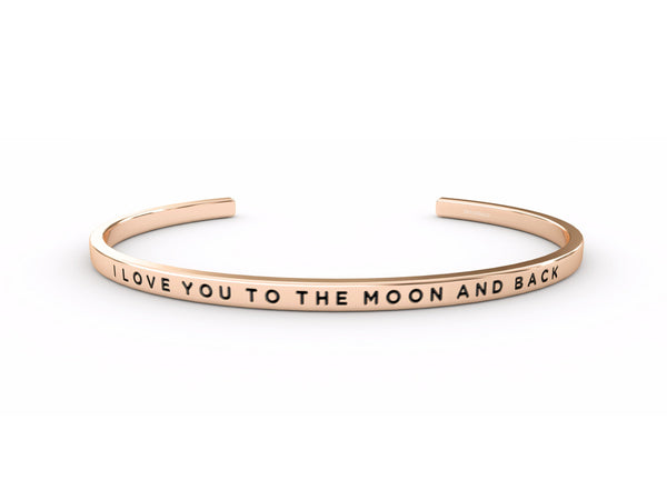 I Love You To The Moon And Back  Rose Gold Delta & Co Bracelet by Delta & Co