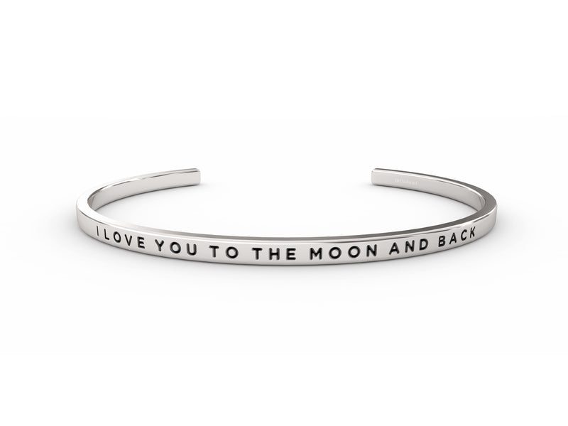 I Love You To The Moon And Back  Silver Delta & Co Bracelet by Delta & Co