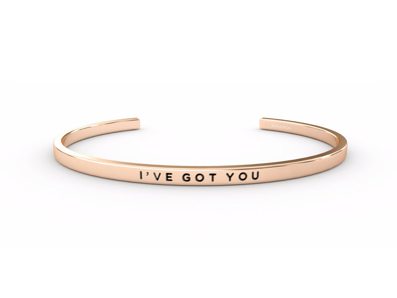 I've Got You  Rose Gold Delta & Co Bracelet by Delta & Co