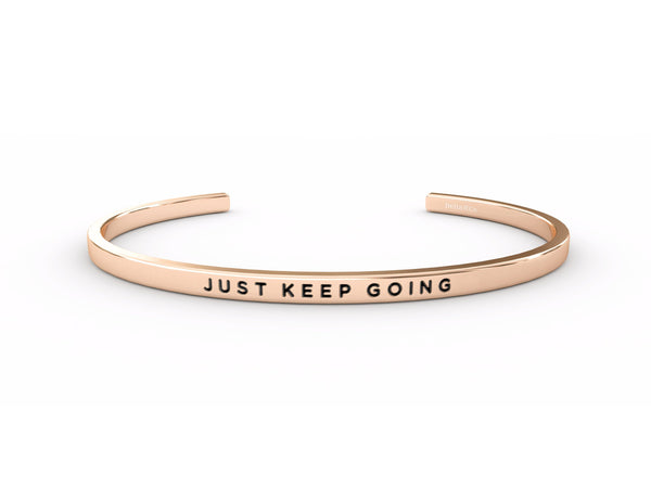 Just Keep Going  Rose Gold Delta & Co Bracelet by Delta & Co