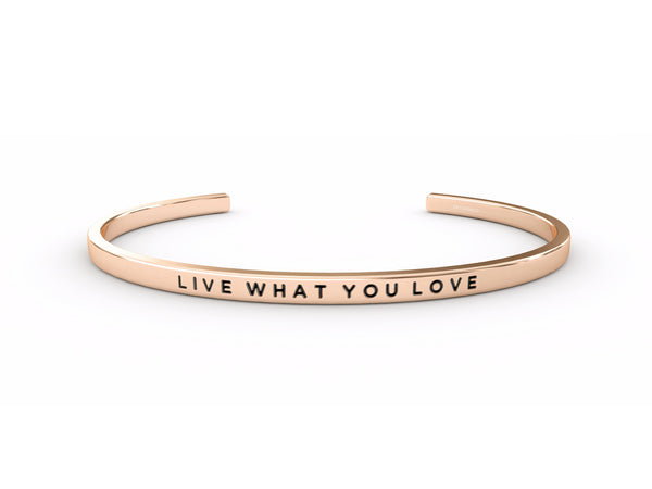 Live What You Love  Rose Gold Delta & Co Bracelet by Delta & Co