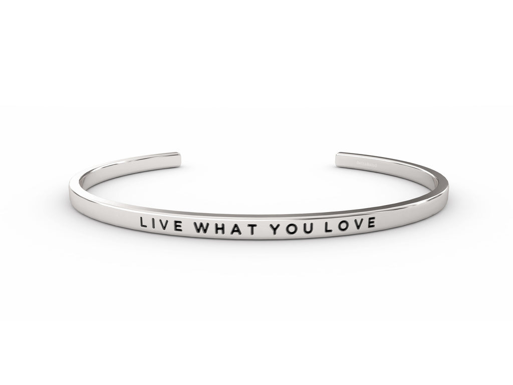 Live What You Love  Silver deltaband Bracelet by Delta & Co