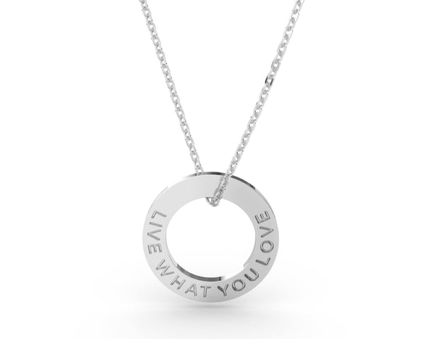Live What You Love  Silver Delta & Co Necklace by Delta & Co