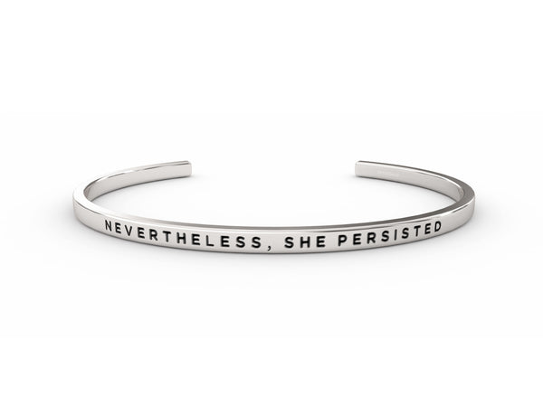 Nevertheless, She Persisted  Silver Delta & Co Bracelet by Delta & Co