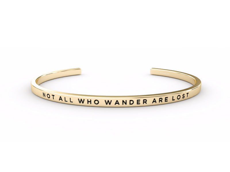 Not All Who Wander Are Lost  Gold Delta & Co Bracelet by Delta & Co