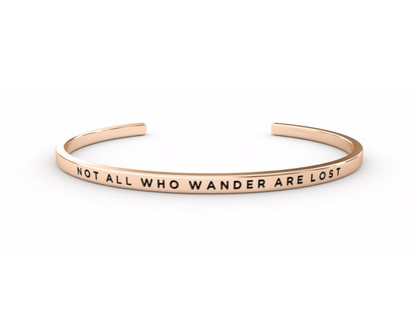 Not All Who Wander Are Lost  Rose Gold Delta & Co Bracelet by Delta & Co
