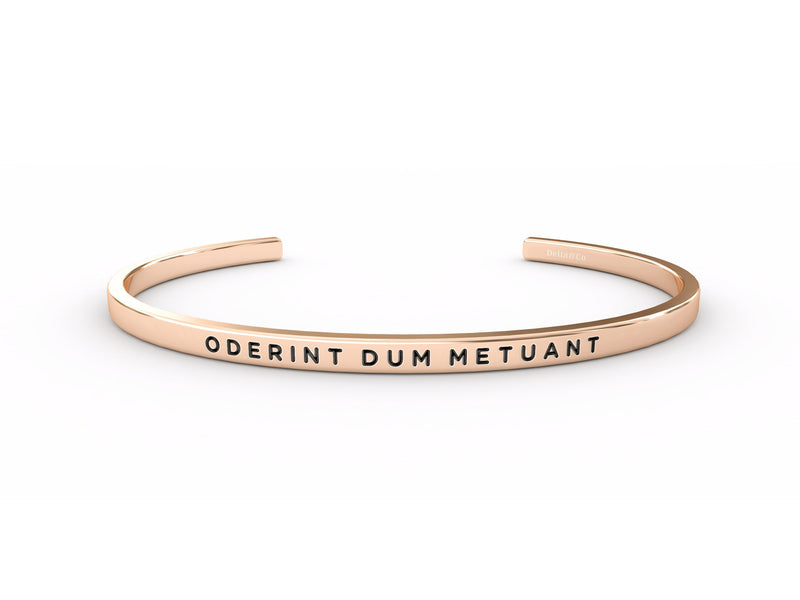Oderint Dum Metuant (let them hate, so long as they fear)  Rose Gold Delta & Co Bracelet by Delta & Co