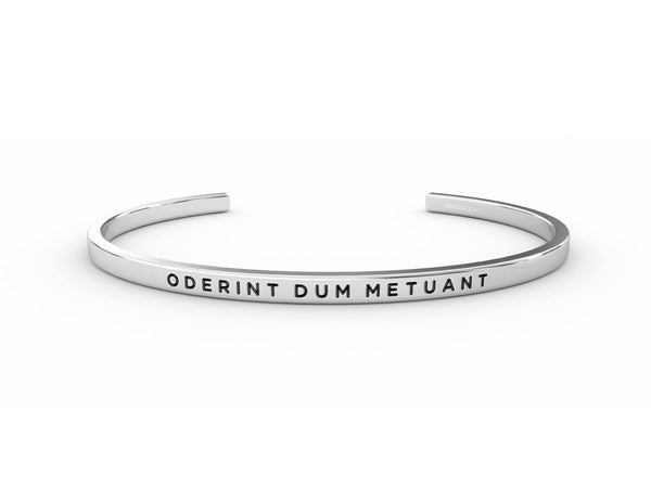 Oderint Dum Metuant (let them hate, so long as they fear)  Silver Delta & Co Bracelet by Delta & Co