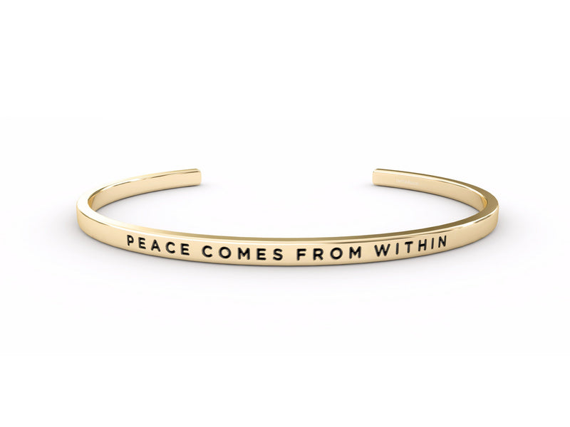 Peace Comes From Within  Gold Delta & Co Bracelet by Delta & Co