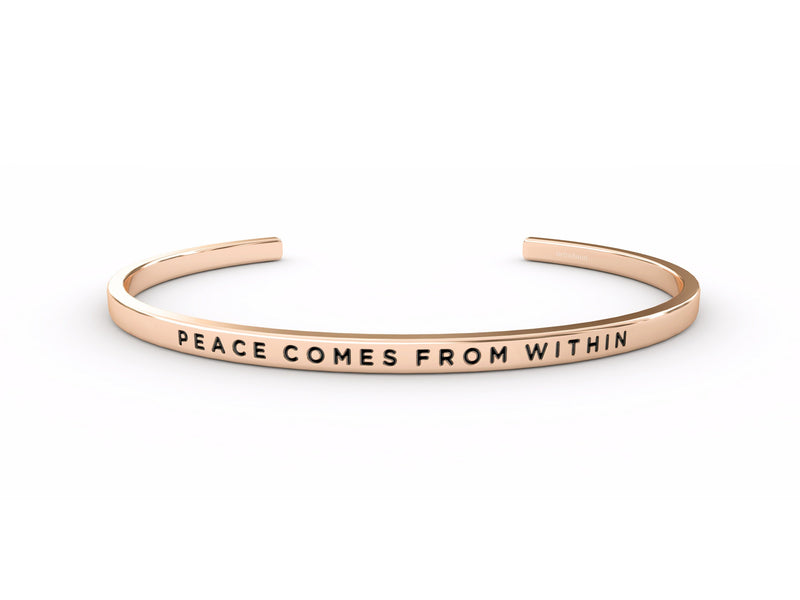 Peace Comes From Within  Rose Gold Delta & Co Bracelet by Delta & Co