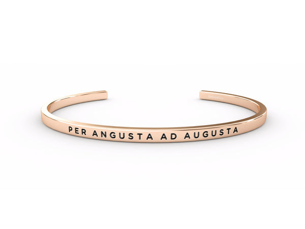 Per Angusta Ad Augusta (through difficulty, to honours)  Rose Gold Delta & Co Bracelet by Delta & Co