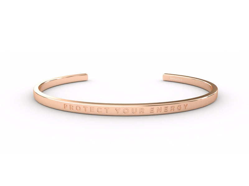 Protect Your Energy - Clear  Rose Gold - Clear Delta & Co Bracelet by Delta & Co