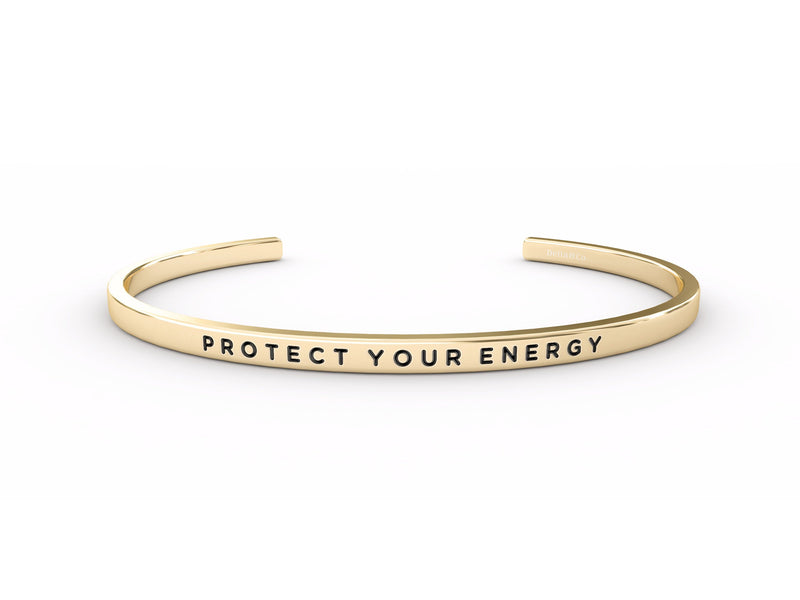 Protect Your Energy  Gold Delta & Co Bracelet by Delta & Co