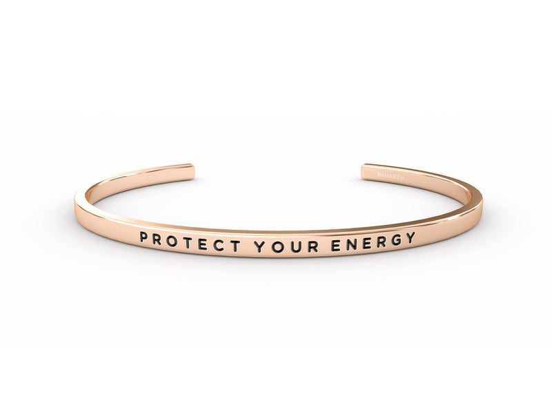 Protect Your Energy  Rose Gold Delta & Co Bracelet by Delta & Co