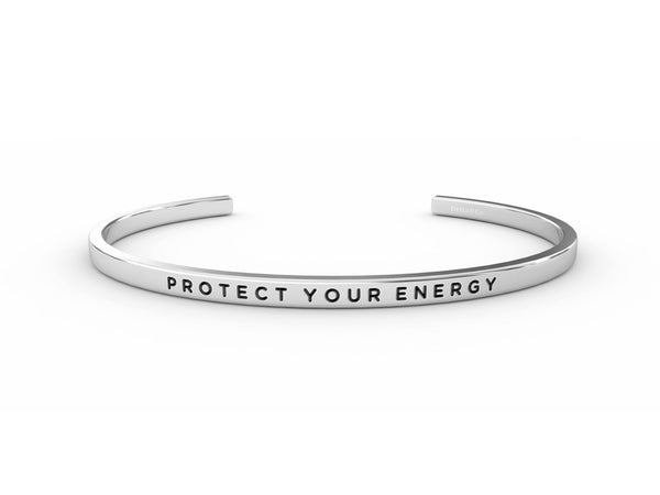 Protect Your Energy  Silver Delta & Co Bracelet by Delta & Co