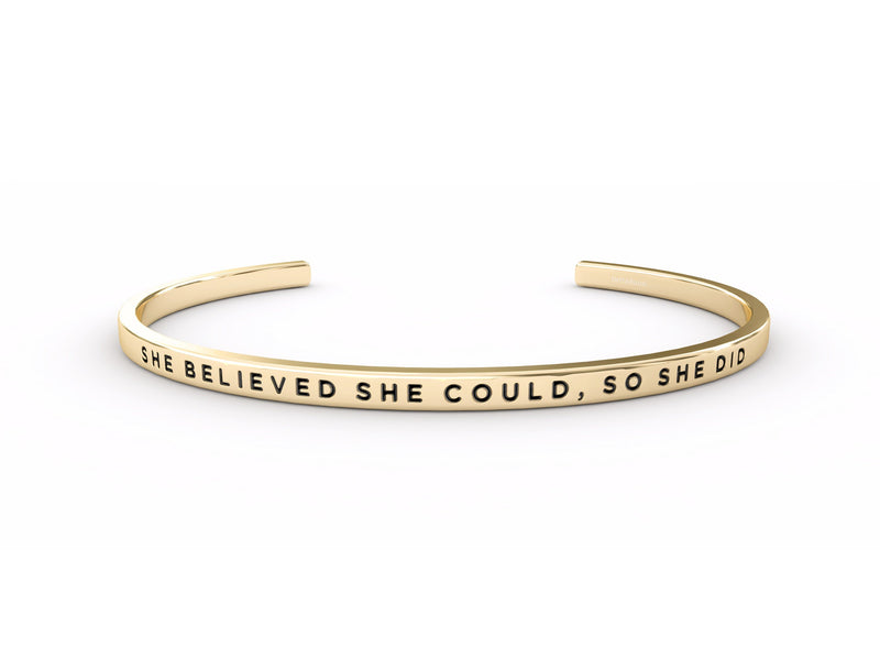 She Believed She Could, So She Did  Gold Delta & Co Bracelet by Delta & Co
