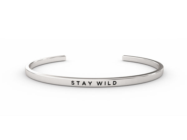 Stay Wild  Silver Delta & Co Bracelet by Delta & Co