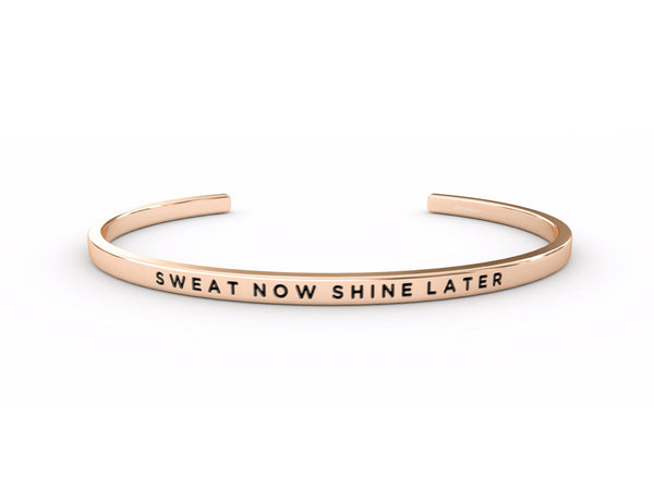 Sweat Now Shine Later  Rose Gold Delta & Co Bracelet by Delta & Co