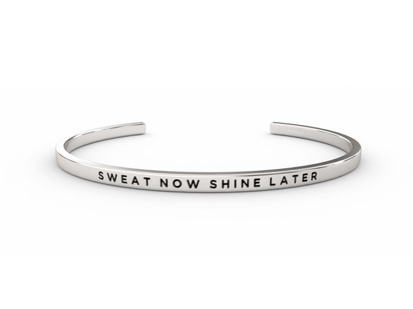 Sweat Now Shine Later  Silver Delta & Co Bracelet by Delta & Co