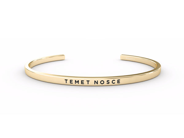 Temet Nosce (Know Yourself)  Gold Delta & Co Bracelet by Delta & Co