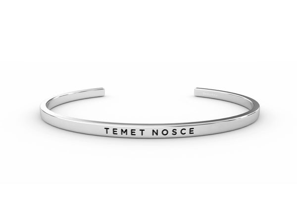 Temet Nosce (Know Yourself)  Silver Delta & Co Bracelet by Delta & Co