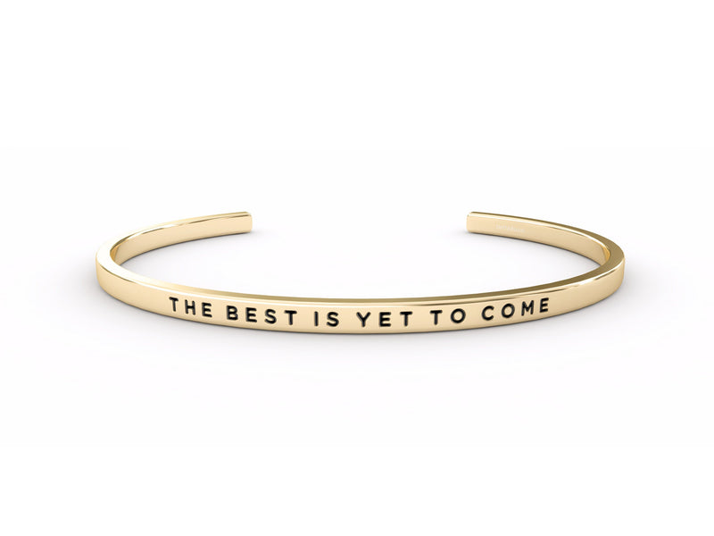 The Best Is Yet To Come  Gold Delta & Co Bracelet by Delta & Co