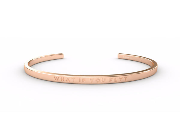 What If You Fly? - Clear  Rose Gold - Clear Delta & Co Bracelet by Delta & Co