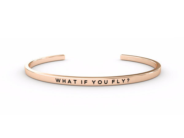What If You Fly?  Rose Gold Delta & Co Bracelet by Delta & Co