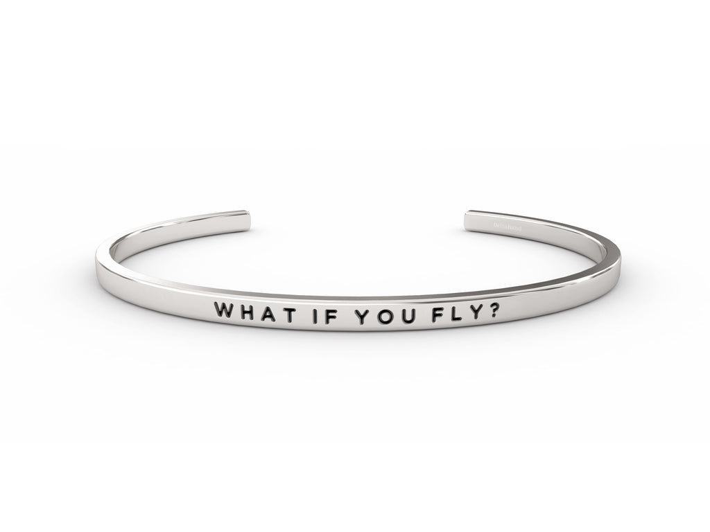 What If You Fly?  Silver deltaband Bracelet by Delta & Co