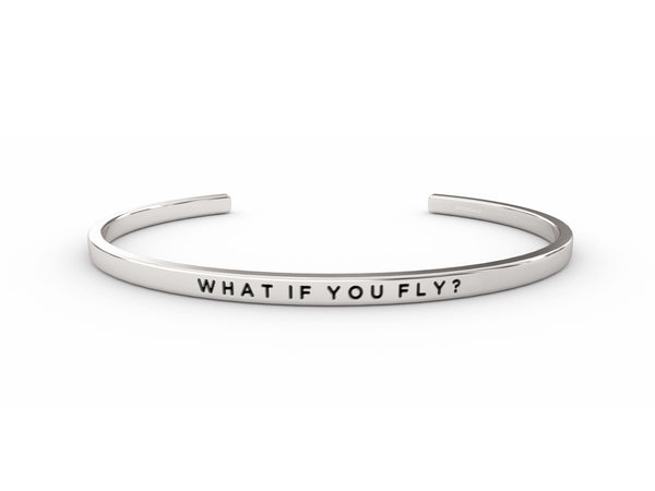 What If You Fly?  Silver Delta & Co Bracelet by Delta & Co