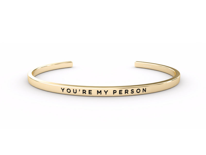 You're My Person  Gold Delta & Co Bracelet by Delta & Co