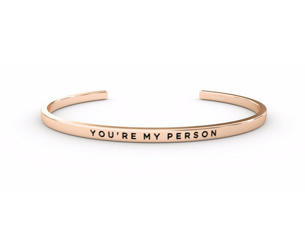 You're My Person  Rose Gold Delta & Co Bracelet by Delta & Co