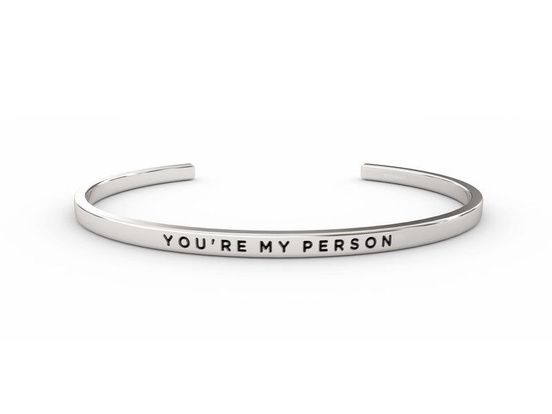 You're My Person  Silver Delta & Co Bracelet by Delta & Co