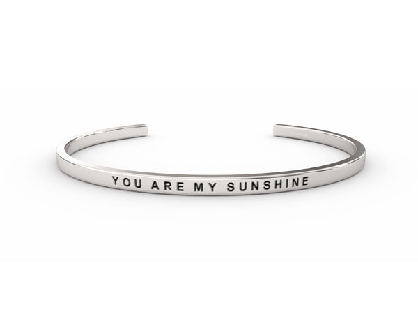 You Are My Sunshine  Silver Delta & Co Bracelet by Delta & Co