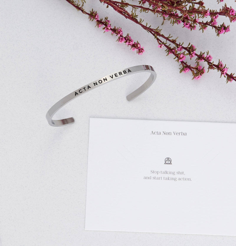Acta Non Verba (actions, not words)   Delta & Co Bracelet by Delta & Co