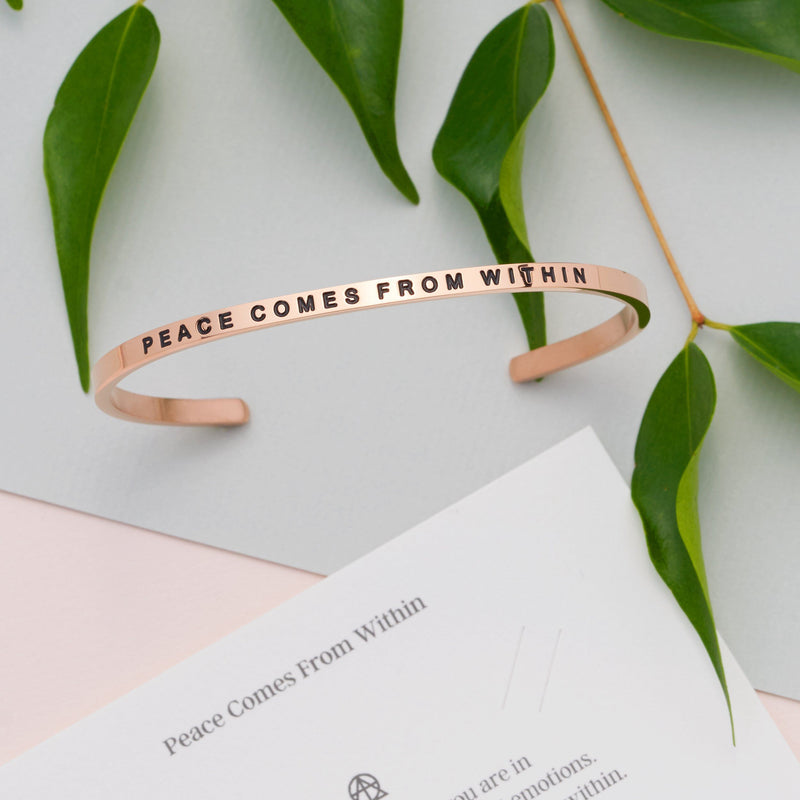 Peace Comes From Within   Delta & Co Bracelet by Delta & Co