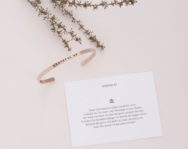 Grateful AF   Delta & Co Bracelet by Delta & Co