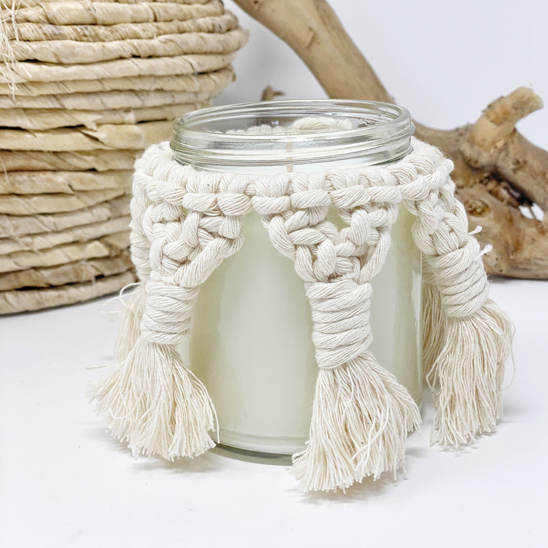 Macrame Candle Cover