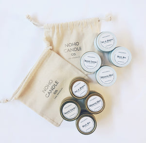 Mini 4 Pack Travel Candle Set