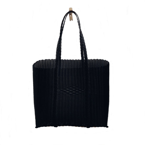 Image of a Large black Santa Barbara Tote
