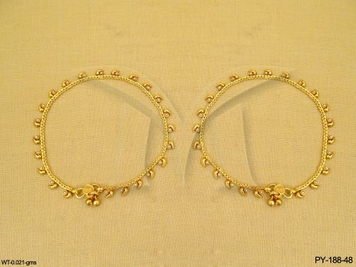 Antique Anklets / Payal / Kolusu with beads