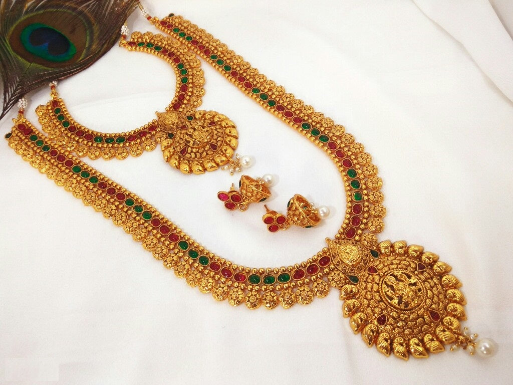 Semi Bridal set - Double color - Temple Jewelry