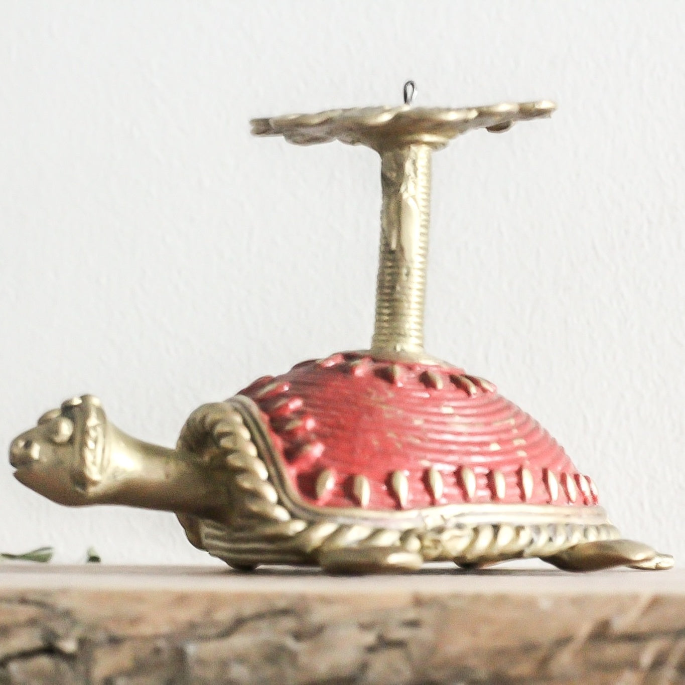 Brass Decor Tortoise / Turtle / Samai Single Candle Stand