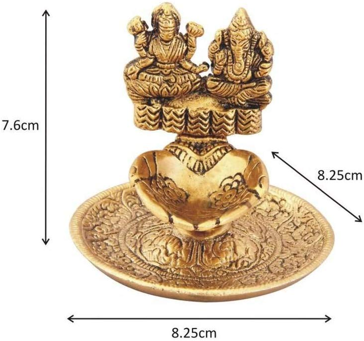 Metal Lakshmi Ganesh Diya Small Decor Return Gift