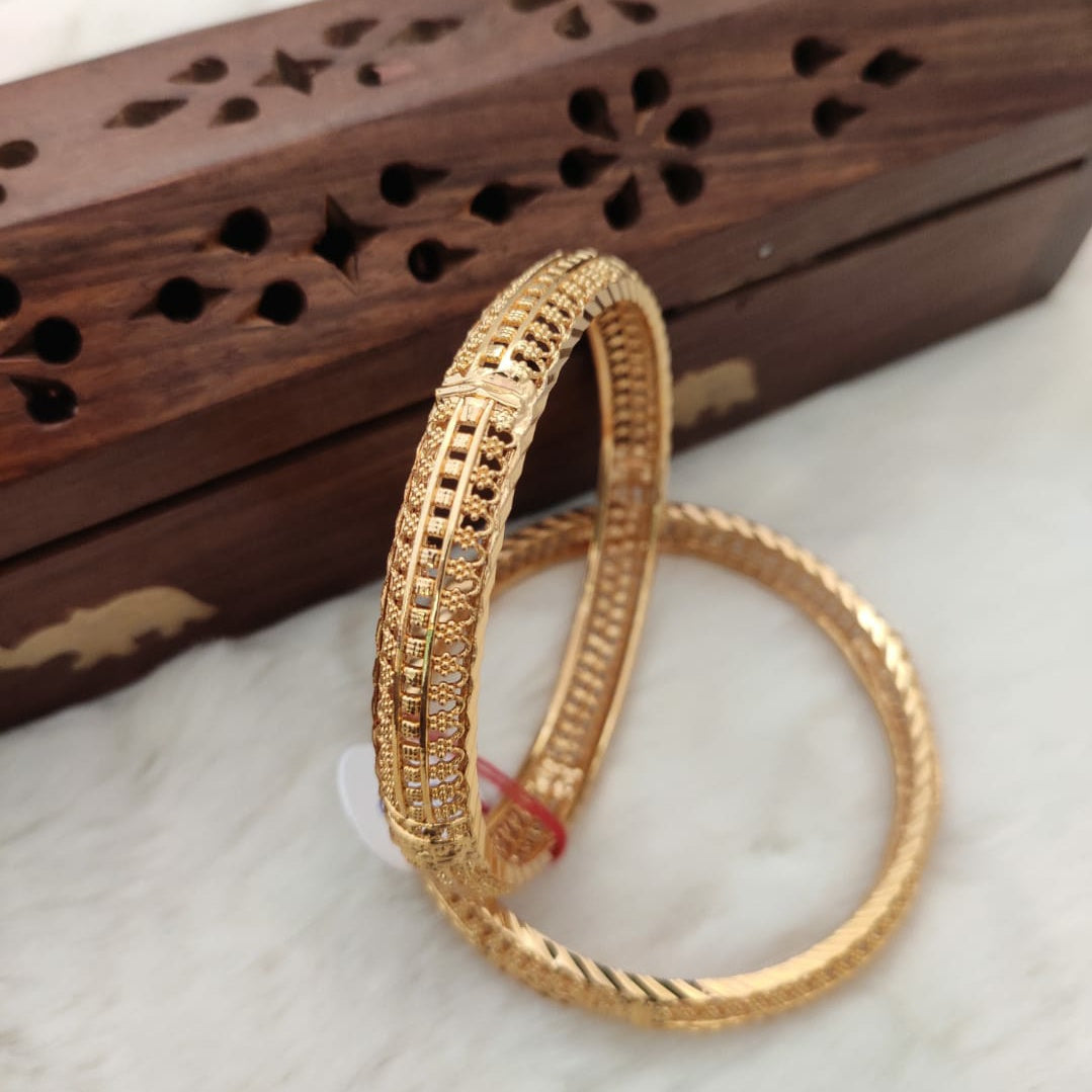 Microplated Net Designer Bangle