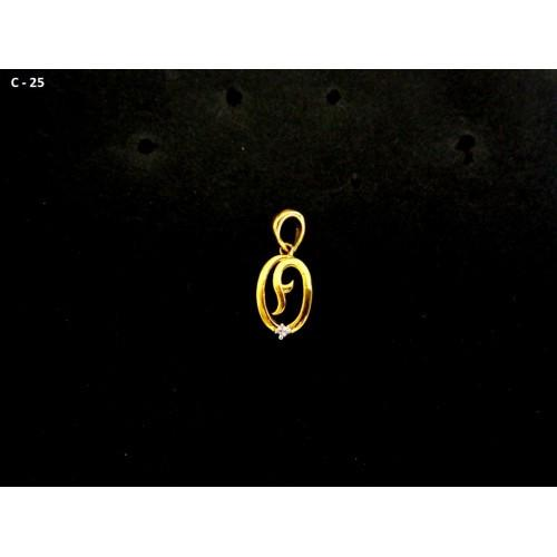 18K Gold Plated Cute Little Pendant With White CZ Stone